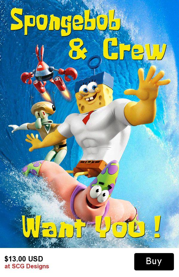 Spongebob Squarepants Personalized Birthday Invitation 2 Sided