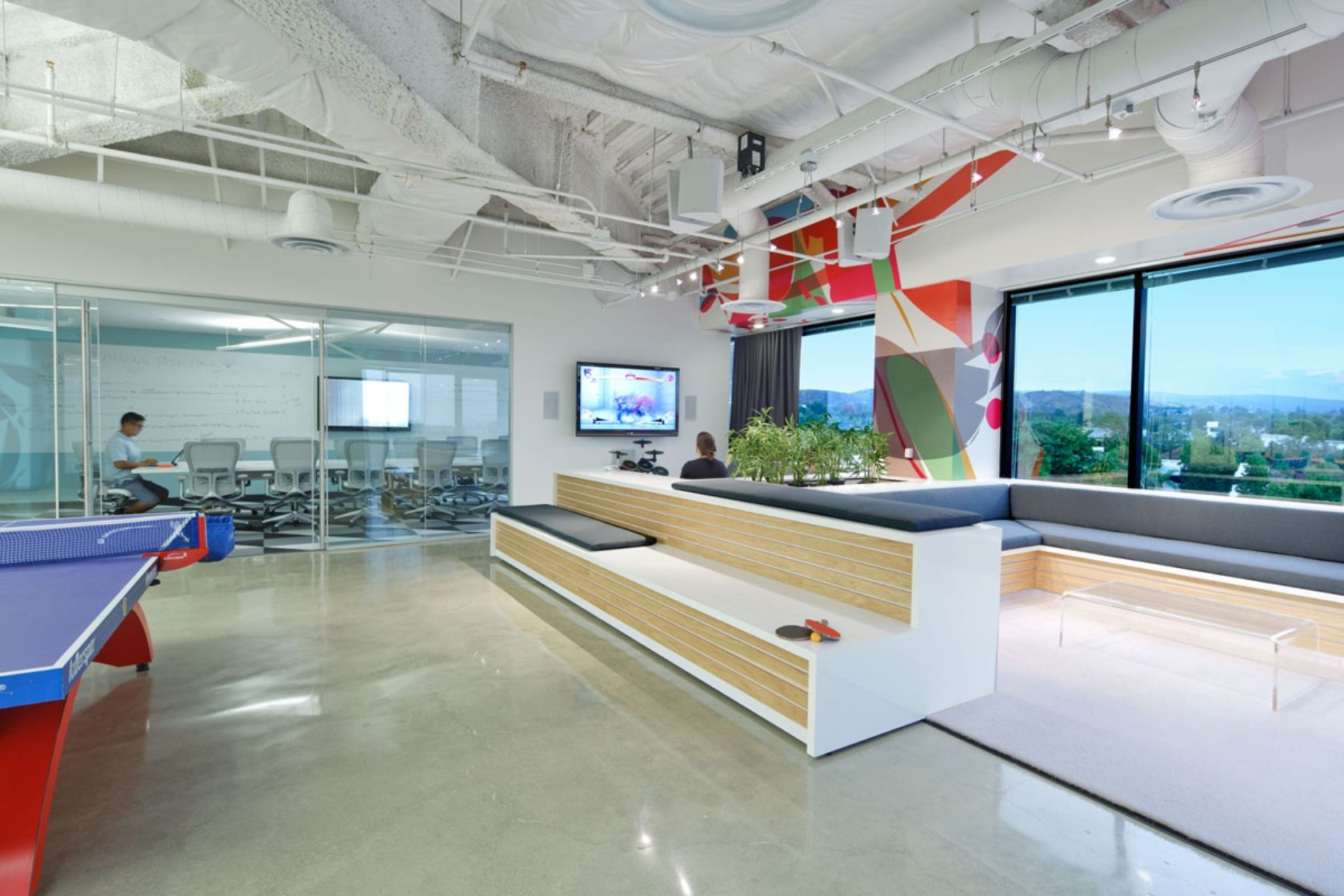 Kitchen social area use of space creative office space office space design