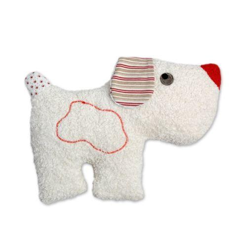Hündchen Babyrassel auf Bio Baumwolle (KbA) von Efie | Our Baby ...