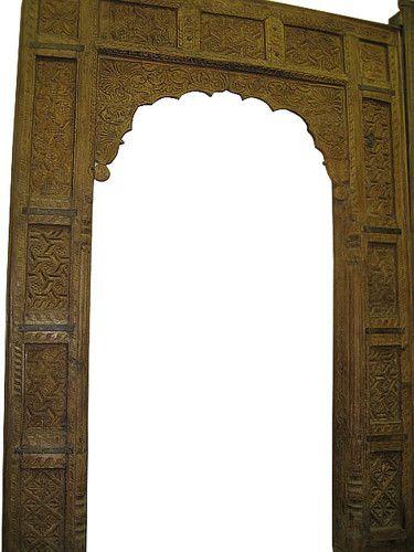 Antique Teak Wood Door Frames Arch Carved Doors India
