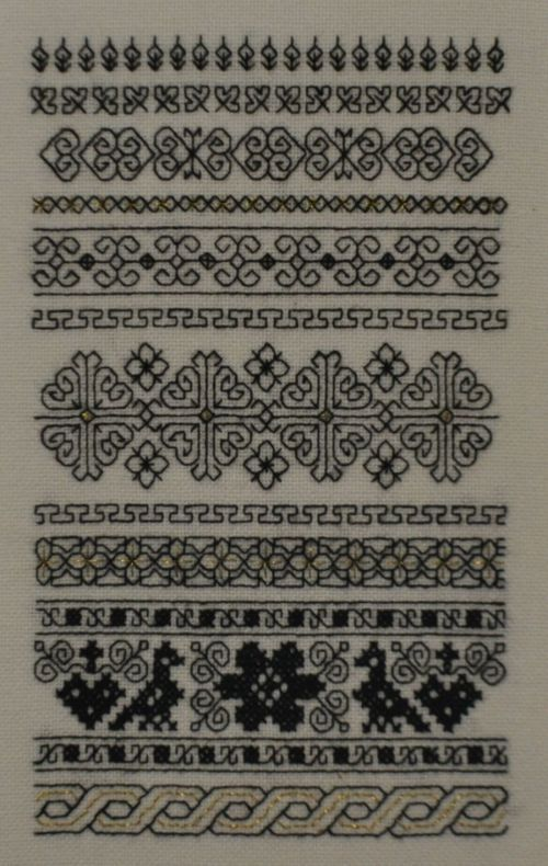 blackwork sampler | Punto lineal, Blackwork | Pinterest | Stickerei ...