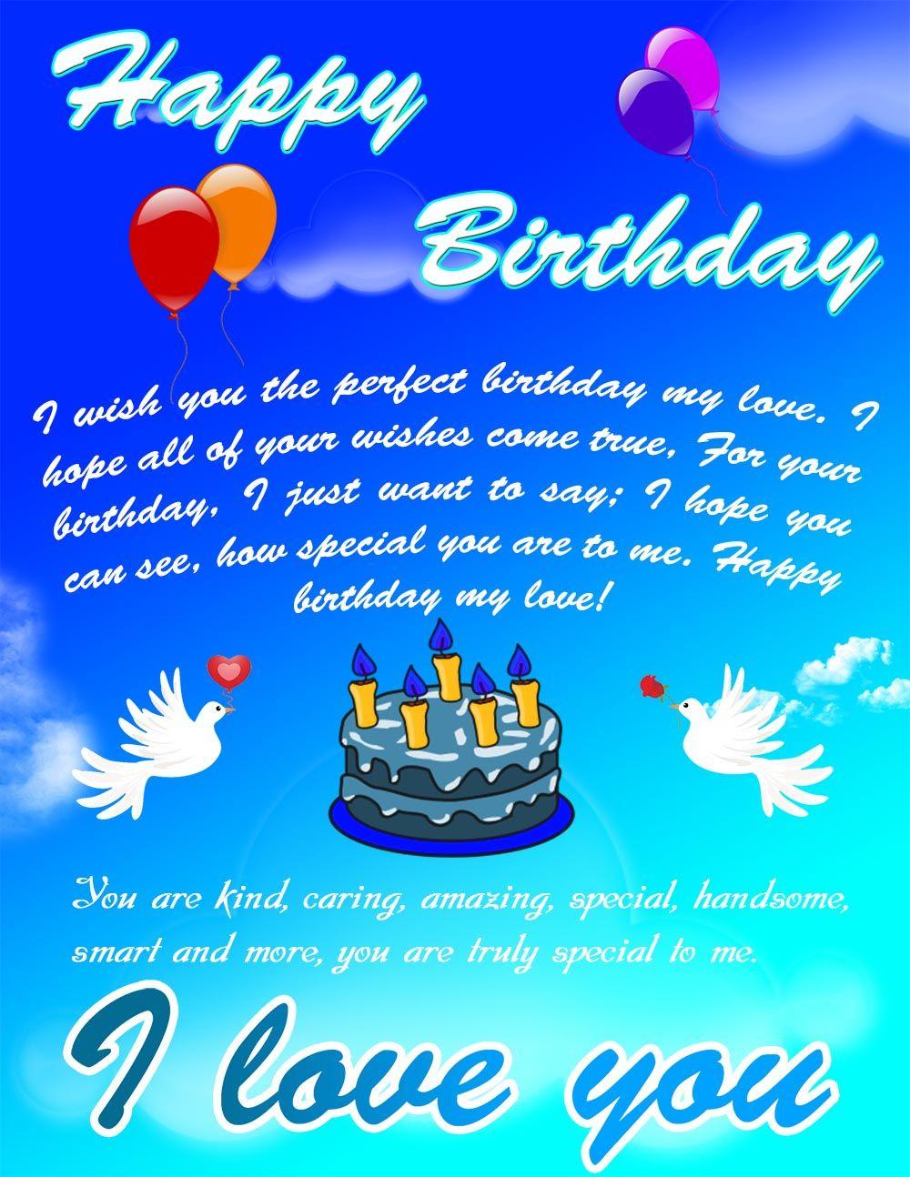 Beautiful Romantic Happy Birthday Ecard Happy Birthday Pinterest