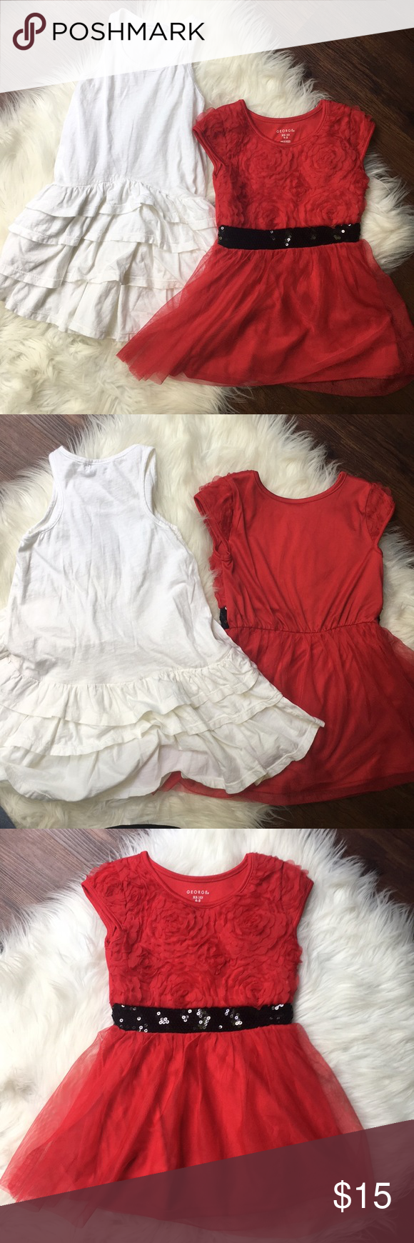 4t Dress Bundle Of 2 Red White Dress Previously Loved If You Need Any Specific Measurements Please Ask And I Will G Red And White Dress Dresses 4t Dress [ 1740 x 580 Pixel ]