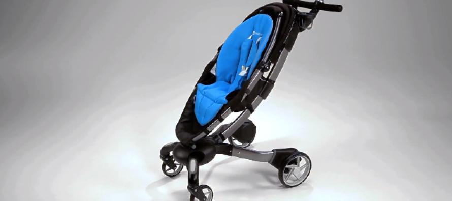 Promener son bébé n'a jamais été si agréable : Origami la poussette connectée