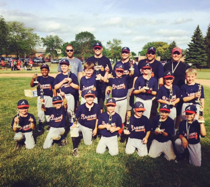 Braves Claim Roseville Area Youth Baseball C League Title Lillie Suburban Newspapers Youth Baseball Braves League