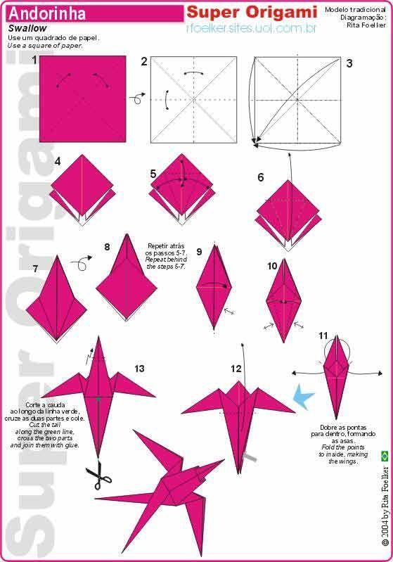 Origami andorinha