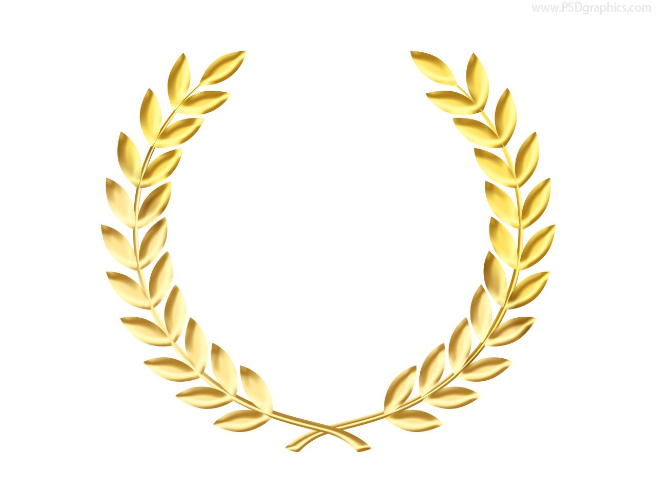 Door Wreaths Gold Laurel Wreath Medal Template Psd Psdgraphics