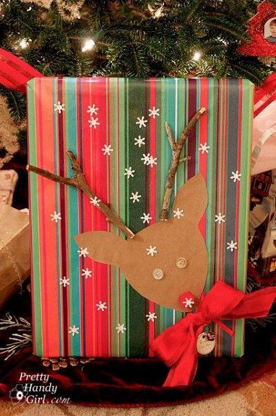 Inspirational Gift Wring Ideas Amalia Llama La Atención Por El Papel Del Envoltorio Y Reno Que Hay En Es Perfecto Para Navidad
