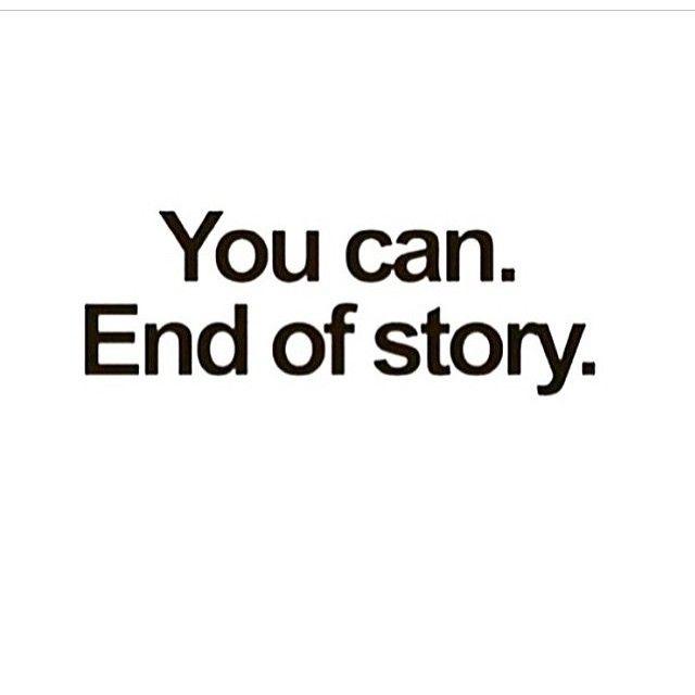 End of story. #inspiration #motivation #sports