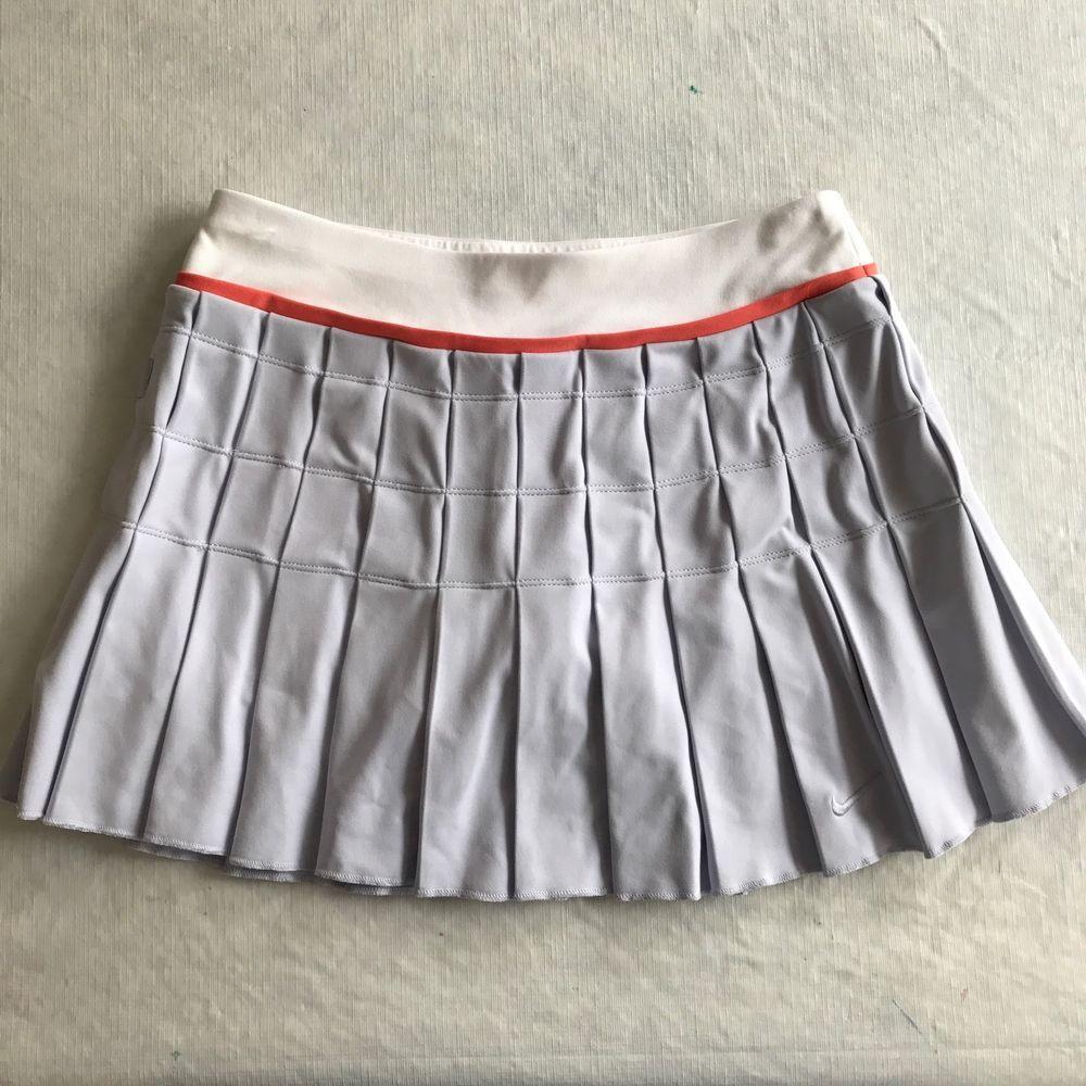 Nike Womens Xs 0 2 Fit Dri Tennis Skirt Skort Purple White Quilted Pleated Ebay Tennis Skirt Fashion Nike Women
