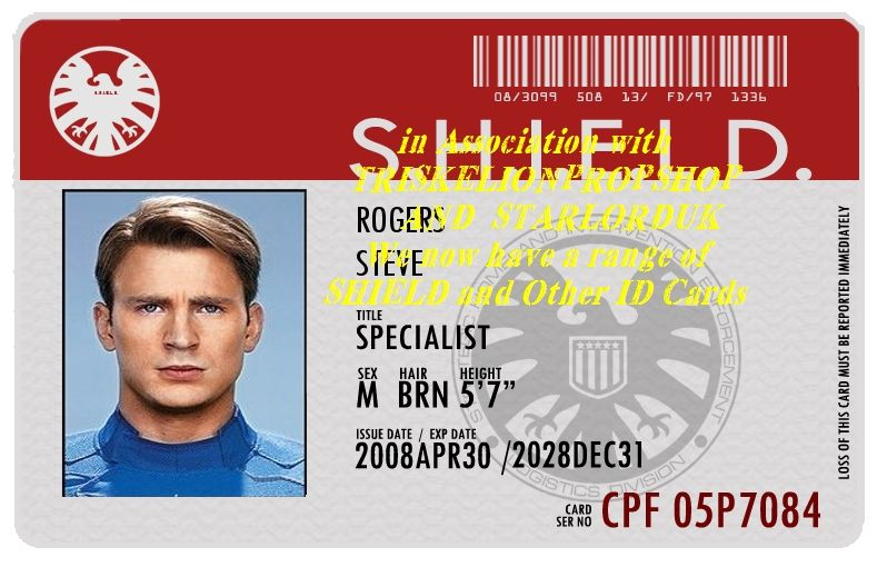 Captain America Red Banner Shield Id Card Ultra Rare Only Seen In The Winter Soldier Movie Winter Soldier Movie Captain America Winter Soldier