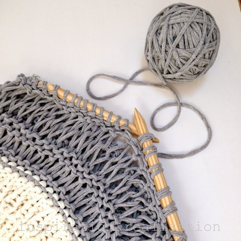 Knitting Stitches Yarn Back : Make a beautiful DIY open knit sweater with t-shirt yarn with this pattern fr...