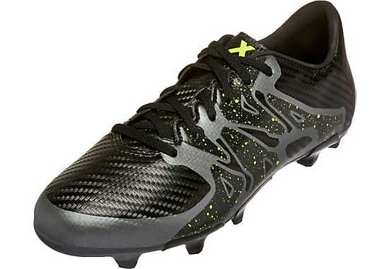 2eea82a723ab Shop SoccerPro today for the adidas Kids X 15.3 FG/AG Soccer Cleats - Black  and Yellow