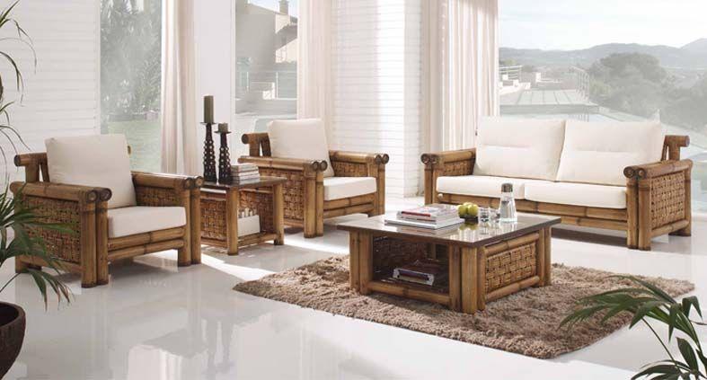 Sofas en bambu y rattan JAMAICA Decoracion Beltran, tu tienda en - decoracion con bambu