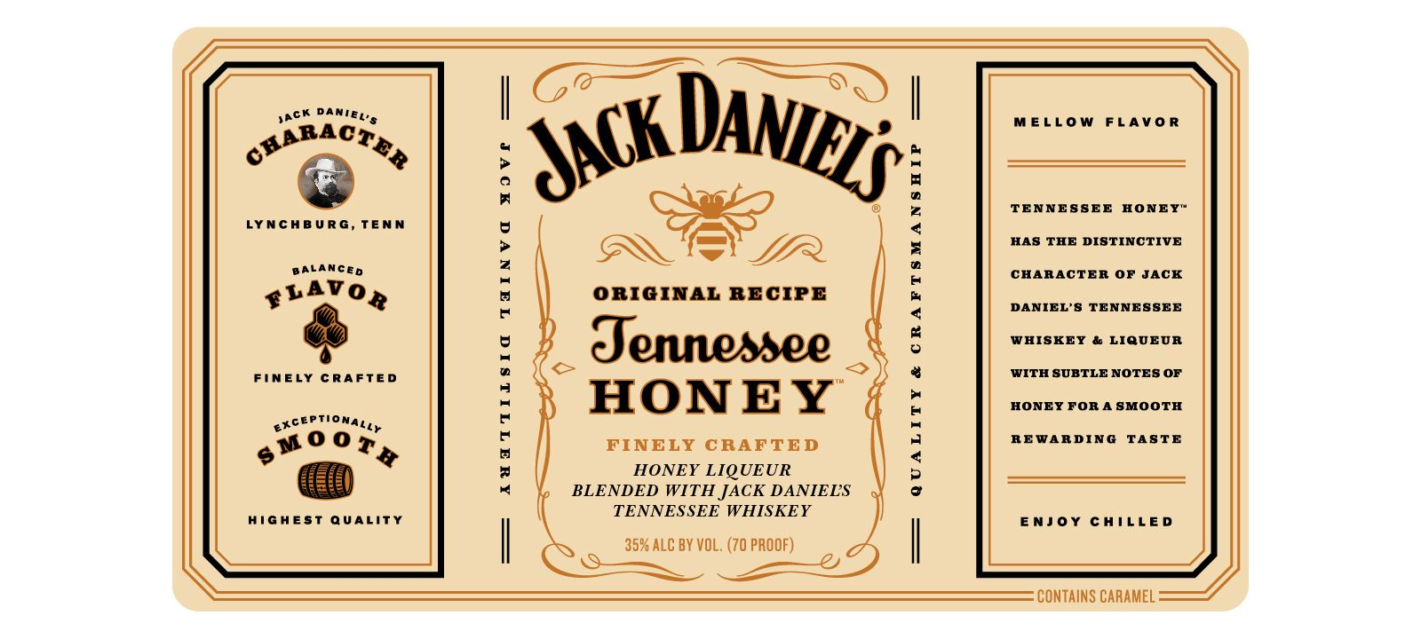 It is an image of Sly Jack Daniels Honey Label