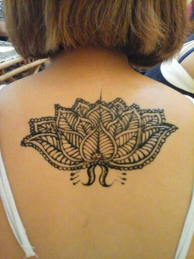 Henna and lotus flower