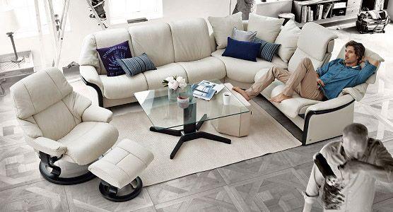 Ekornes Stressless Eldorado High Back Sofa Ambiente Modern