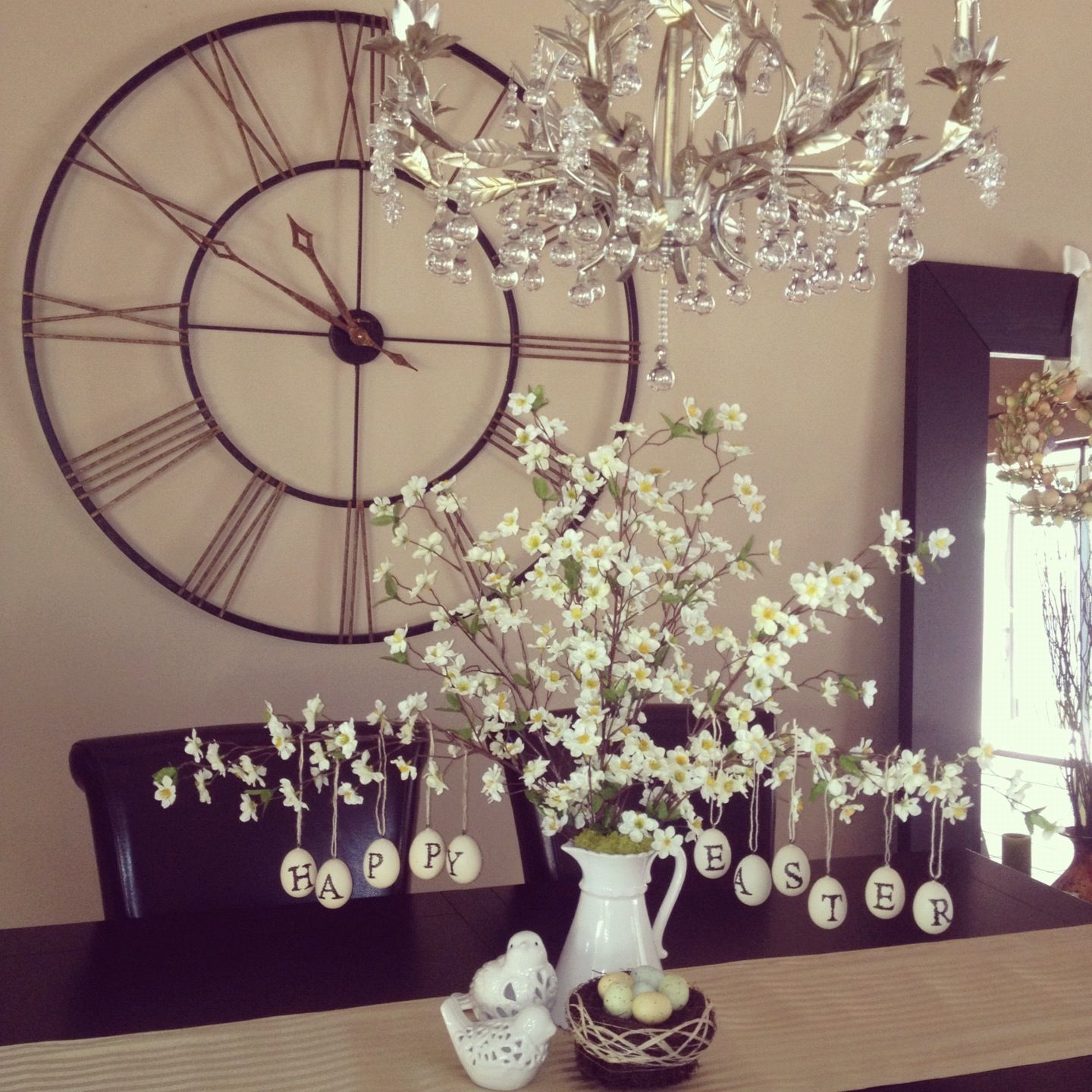 Oversized Clock In Dining Room Oversized Clocks Dining