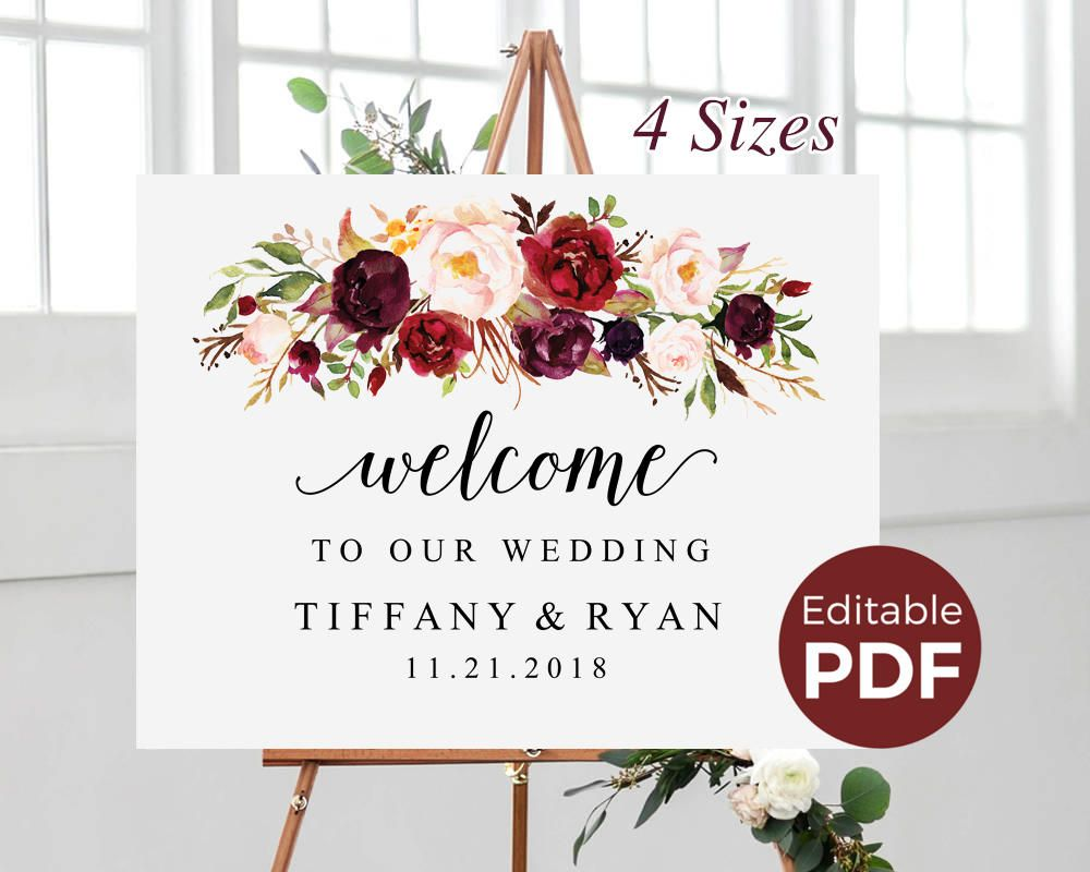 welcome to our wedding sign template printable wedding
