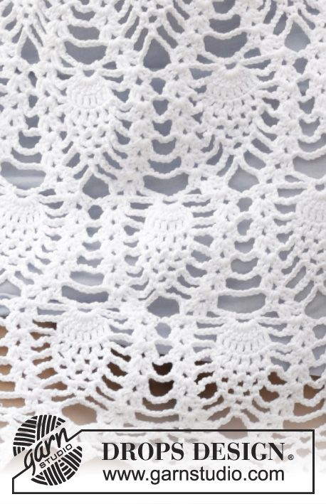Pi / DROPS 169-21 - Crochet DROPS skirt with lace pattern and ...