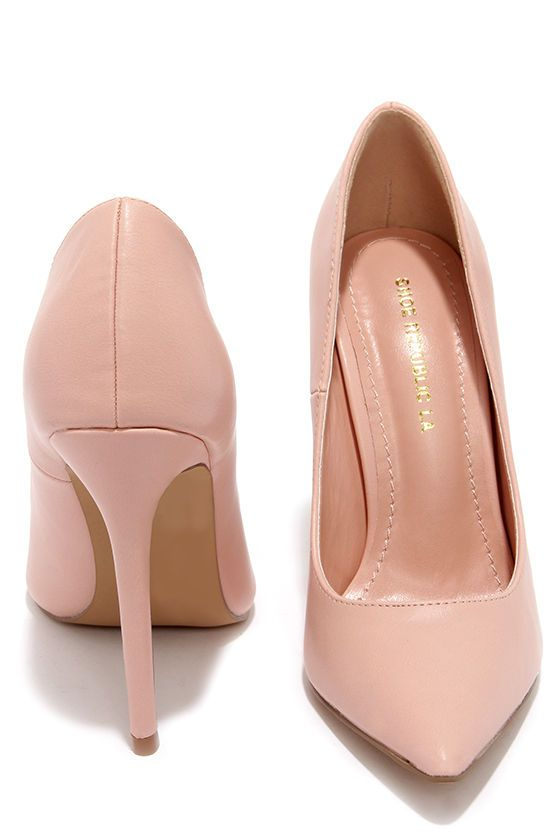 c7a8f3c2ad2 Click Your Heels Blush Pink Pointed Pumps at Lulus.com!