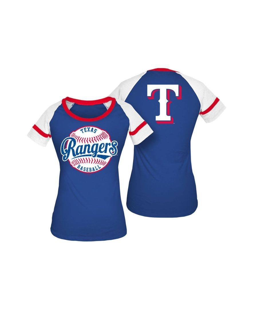 8c4ce7f587225 5th & Ocean Women's Texas Rangers Athletic Baseball T-Shirt ...
