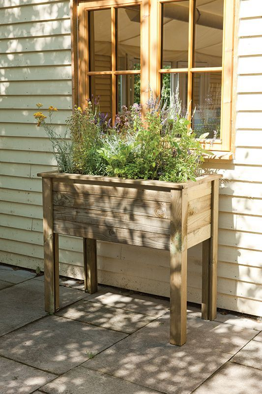 Herb Box Planter Part - 23: Elevate Your Garden Style With A DIY Raised Planter