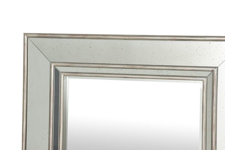 Amazon Com Flamant Julia 35 X 46 Wall Mirror Antique Silver Kitchen Dining Mirror Wall Mirror Antique Mirror [ 1000 x 1500 Pixel ]