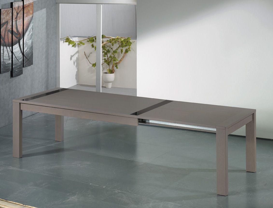 Sejour Horizon Grande Table Rectangulaire Avec 2 Allonges Porte Feuilles En Bout De 50 Cm Longueur Avec Allonges Salle A Manger Moderne Table Grande Table