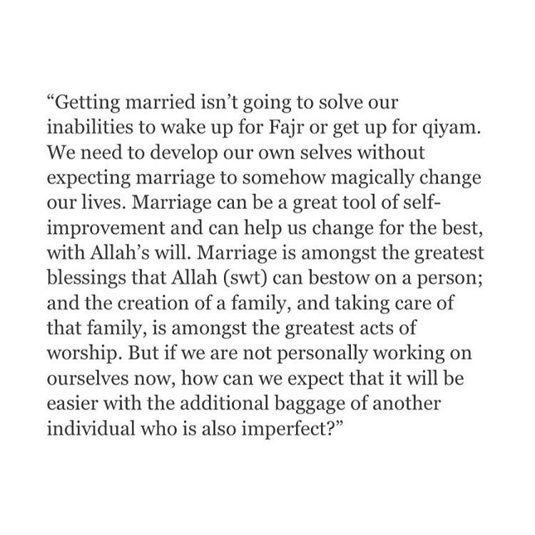 Some People Think Getting Married Will Change Their Life