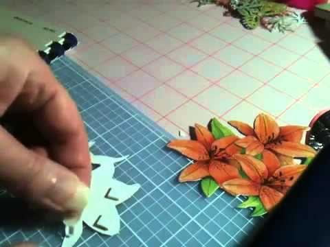 Ducoupage • 3D květy