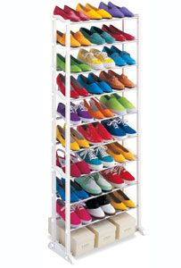 The 30 Pair Shoe Rack Creates Vertical Storage Space In Your Closet Garage Or Mudroom You Can Store Shoe Rack Organization Shoe Rack Tower Shoe Rack Portable