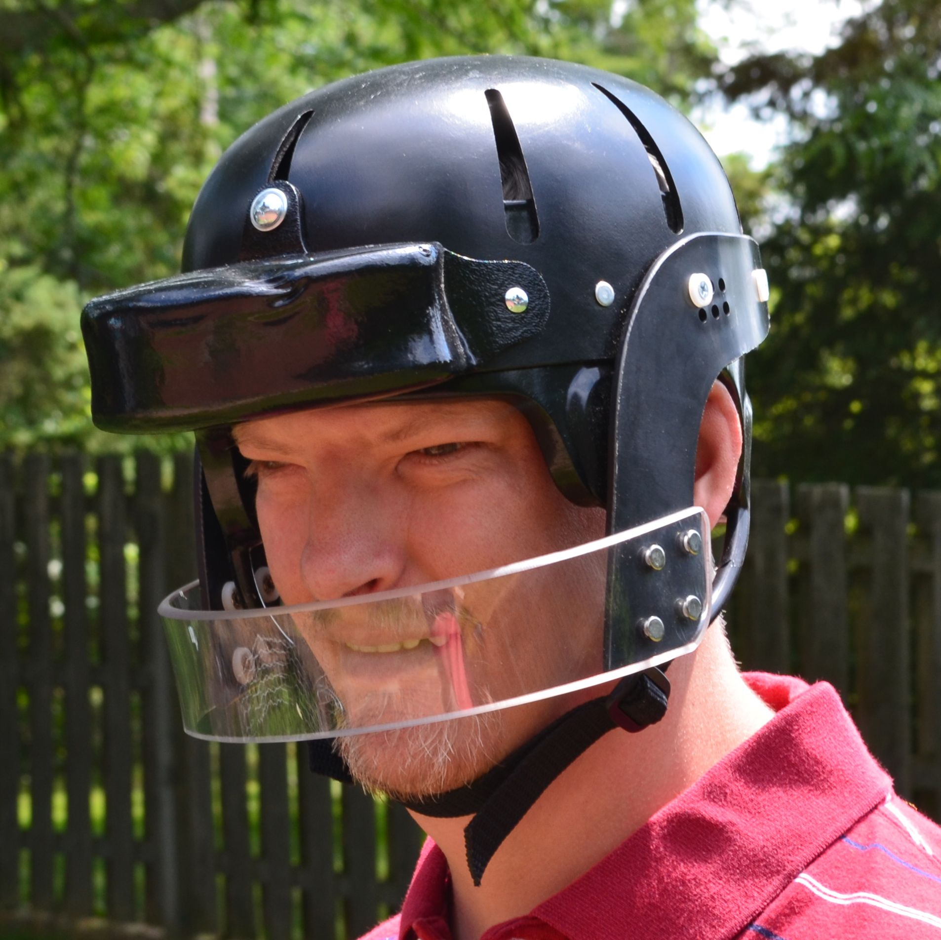 1c4afb9ca18 9824 Black with a 3468 foam visor added Football Helmets