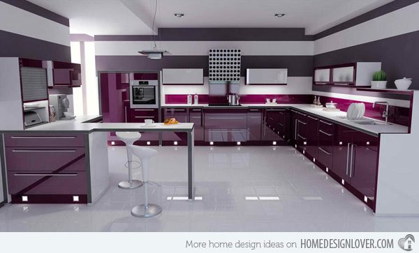 Kitchen Ideas Purple 15 high gloss kitchen designs in bold color choices | gloss