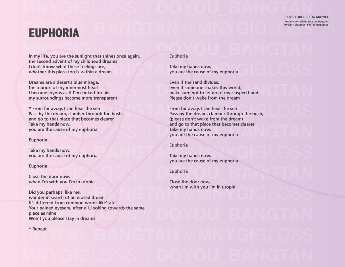 LOVE_YOURSELF_結_Answer || Lyrics || Euphoria