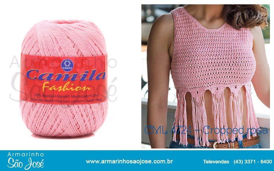 Combinacao Perfeita De Croche Com Franjas E Detalhes Em Macrame Feita Com Linha Camila Fashion Confira Aqui A Recei Roupas De Croche Top De Croche Croche