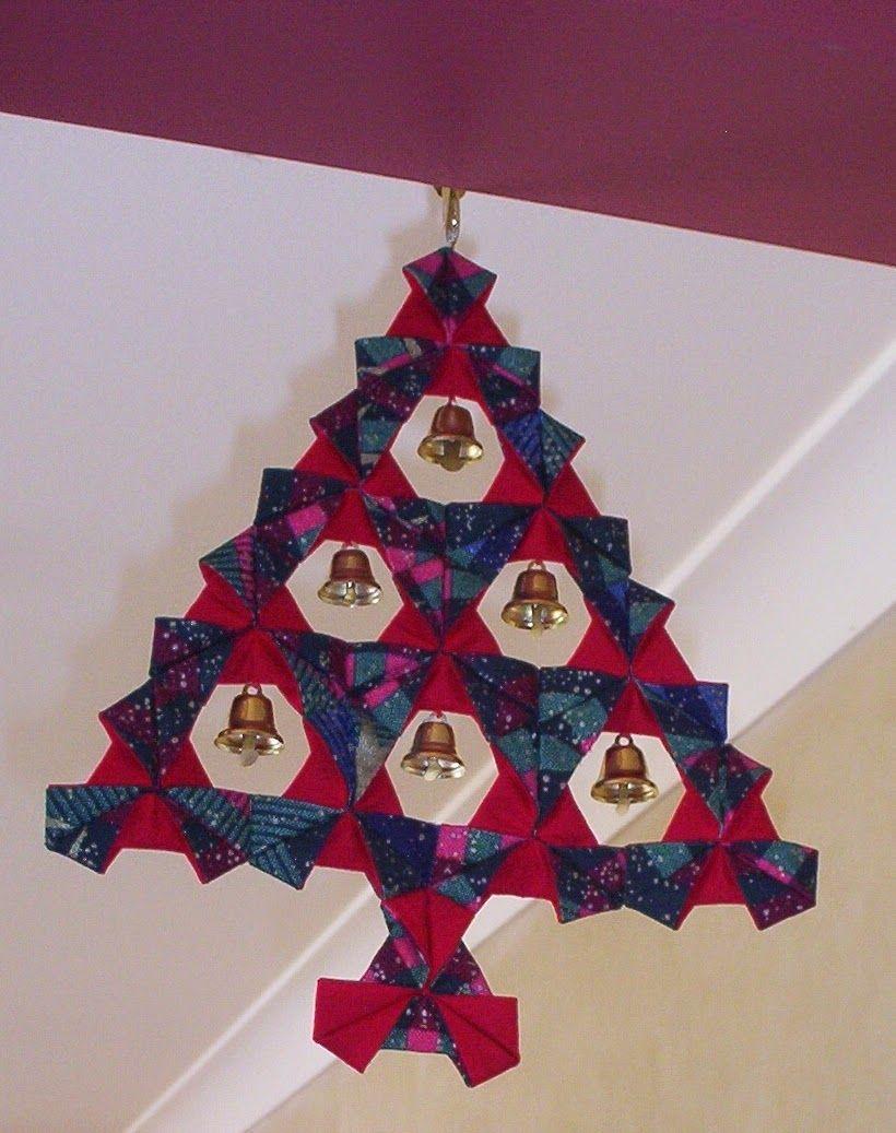 Nannynotesu make a fabric origami xmas tree christmas