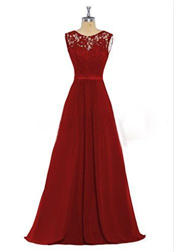 HHBY Women's Lace Tank Bridesmaid Dresses For Wedding Party Formal Gown Wine Red Size US 6 HHBY http://www.amazon.com/dp/B0169VH010/ref=cm_sw_r_pi_dp_Rq17wb198S27P