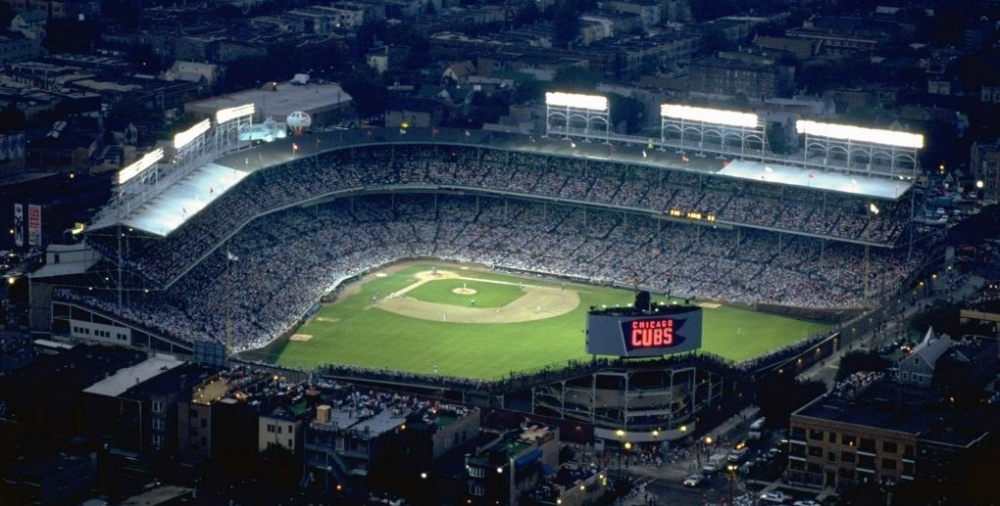 On August 8 1988 The Lights Went On At Wrigley Field In Chicago Previously Limited To Daytime Games Only Cubs F Wrigley Field Wrigley Field Stadium Wrigley