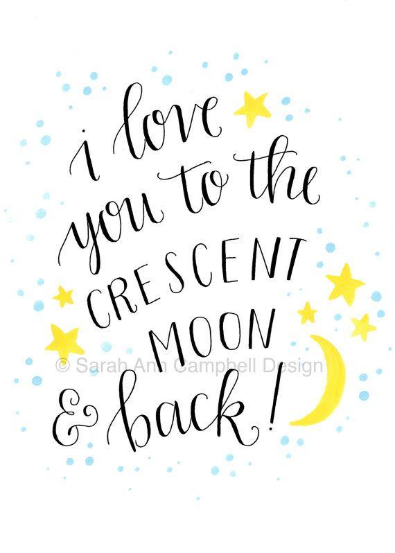 Tri-Delta Crescent Moon (Print) \ - tri words