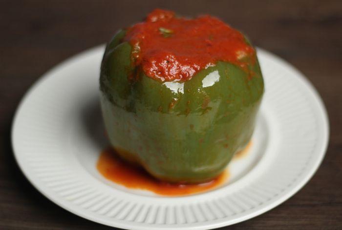 beef stuffed green peppers recipe