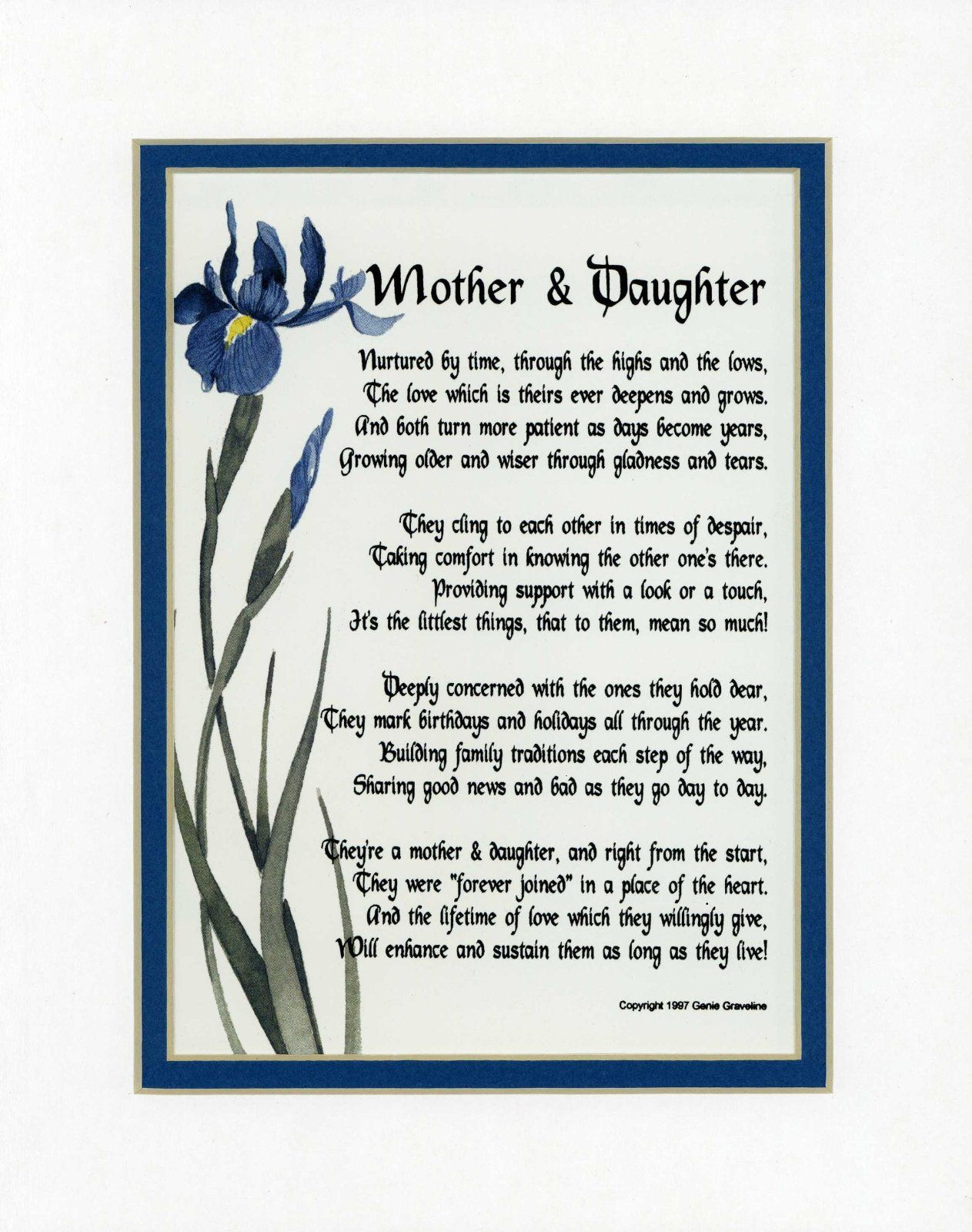 Mother daughter for jodie pinterest happy for Short poems for daughters from mothers