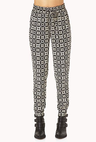 Eclectic Woven Joggers   FOREVER21 - 2000065733