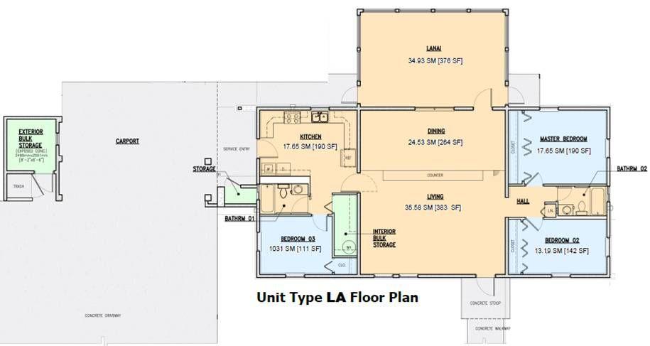 Nb Guam Nimitz Hill Housing Type La 3 Bedroom Floor Plan Designated For O4 O5 And Civilians Floor Plans 3 Bedroom Floor Plan Bedroom Floor Plans
