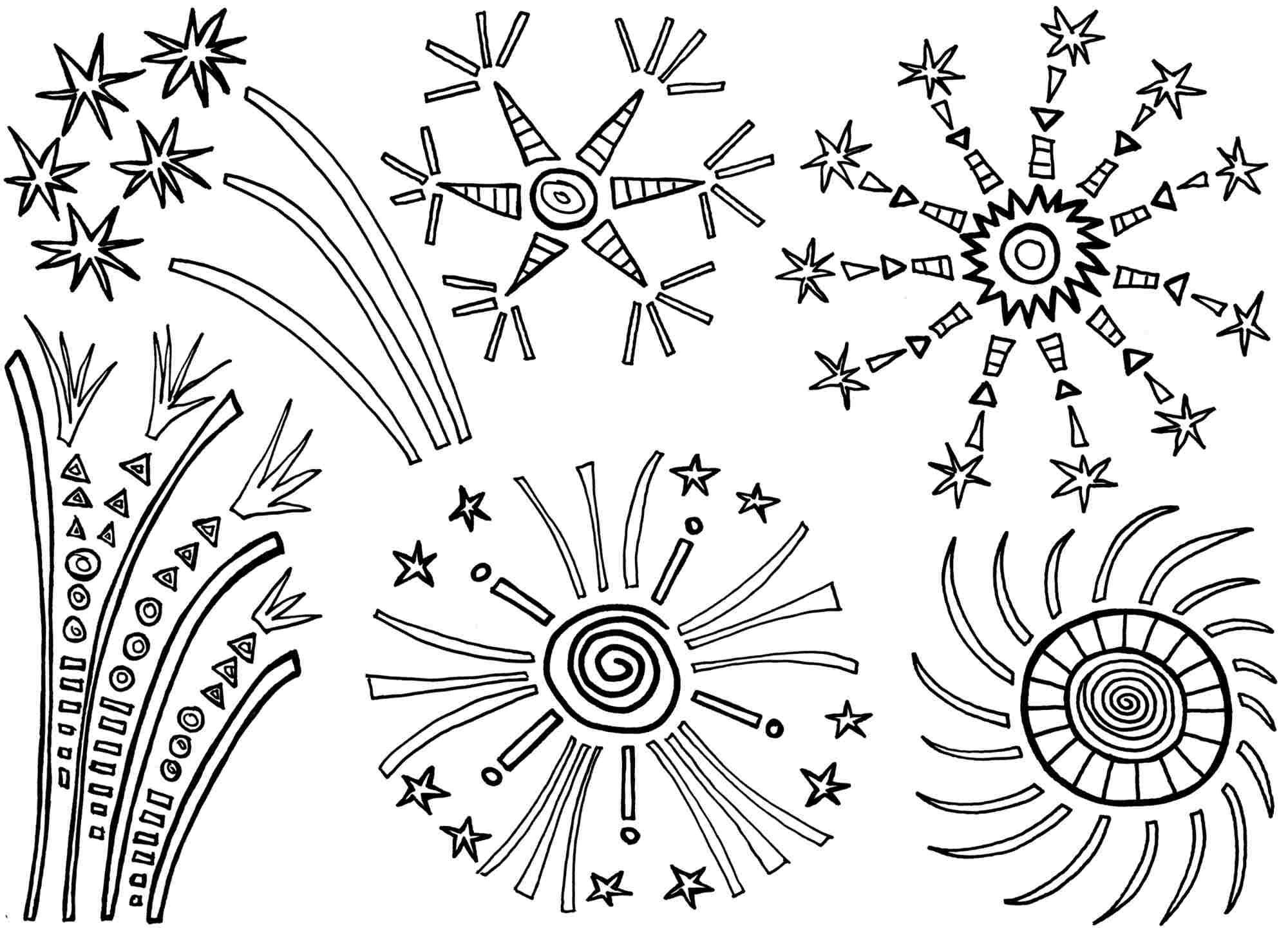 Kleurplaten Jaarwisseling Hobby Blogo Nl Nieuwjaarsknutsels Kleurboek Vuurwerk Knutselen