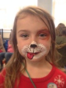 Dog Face Painting The Kids In 2018