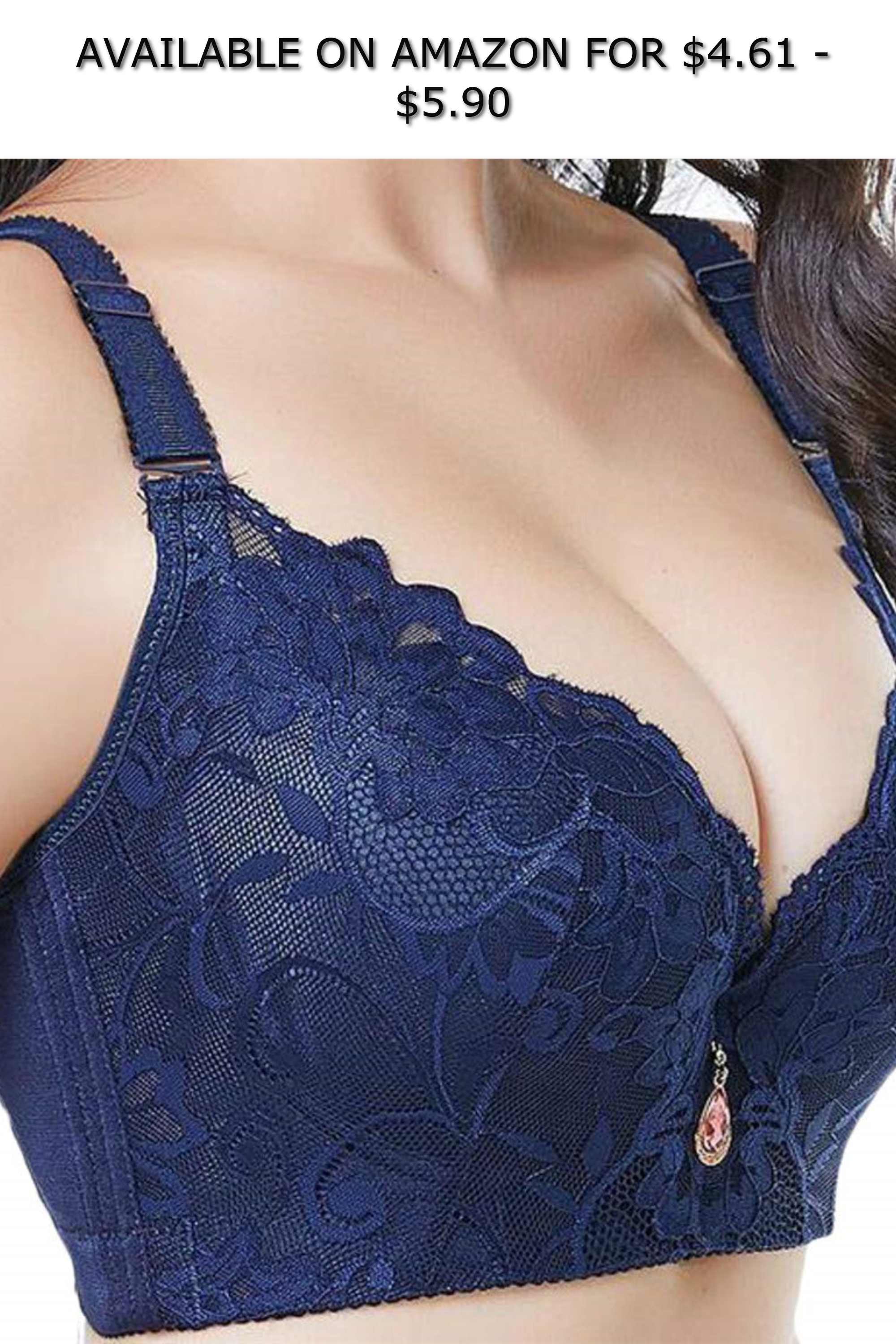 588aabc86340f Hajotrawa Women Full-Coverage Lounge Minimizer-Bra Lace Strap Lingerie  Everyday Bras ◇ AVAILABLE