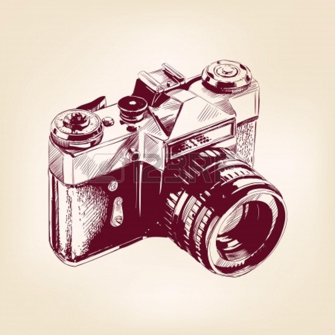 Stock Vector in 2020 Camera illustration, Vintage camera