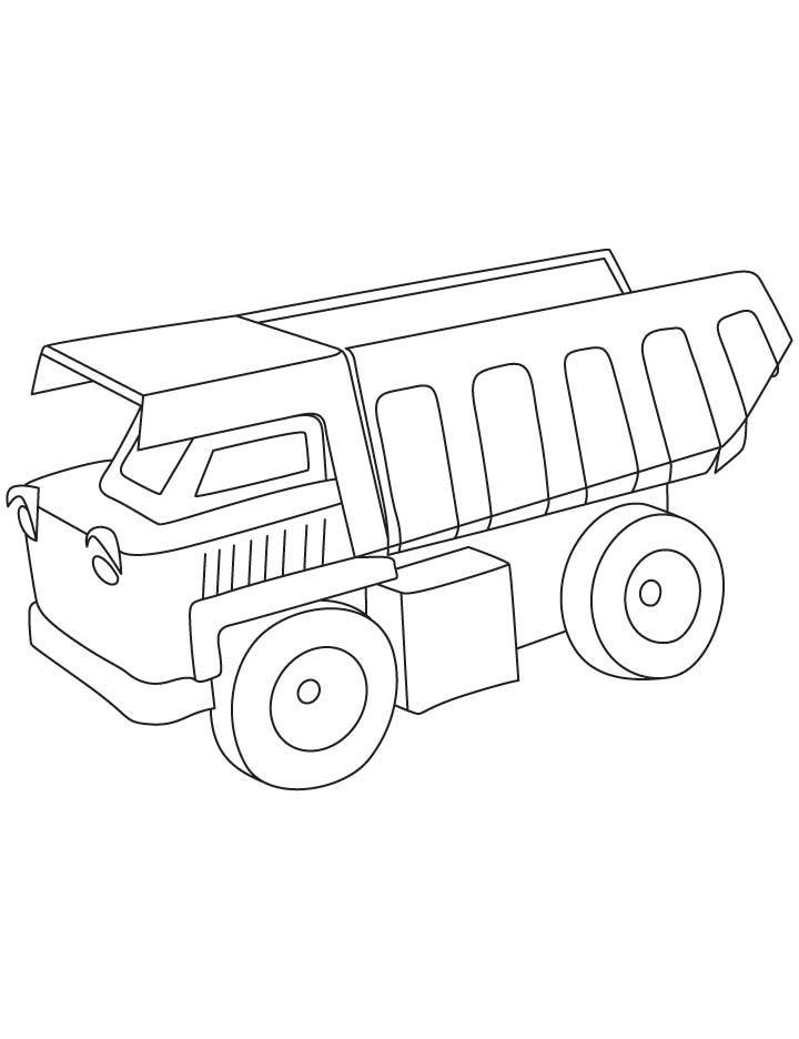 Dump truck coloring pages | Free Printable Coloring Sheets ...