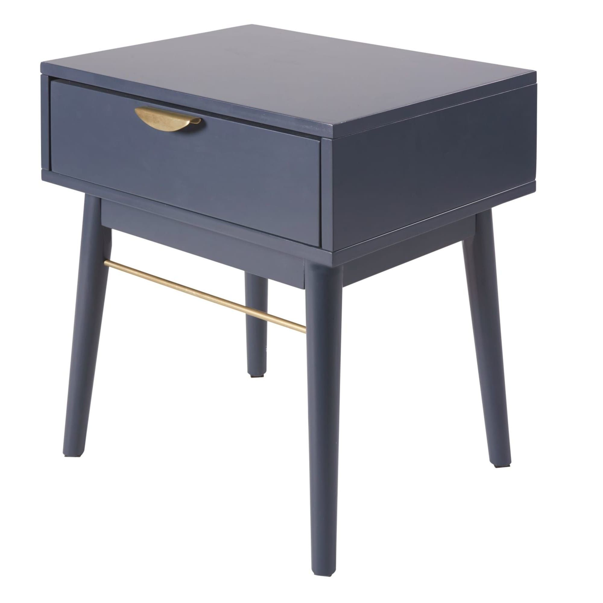 Best Dark Blue 1 Drawer Bedside Table Drawers Modern Side 400 x 300